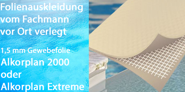 Pool living ihr fachmarkt f r pool komplettsets und zubeh r for Gewebefolie pool